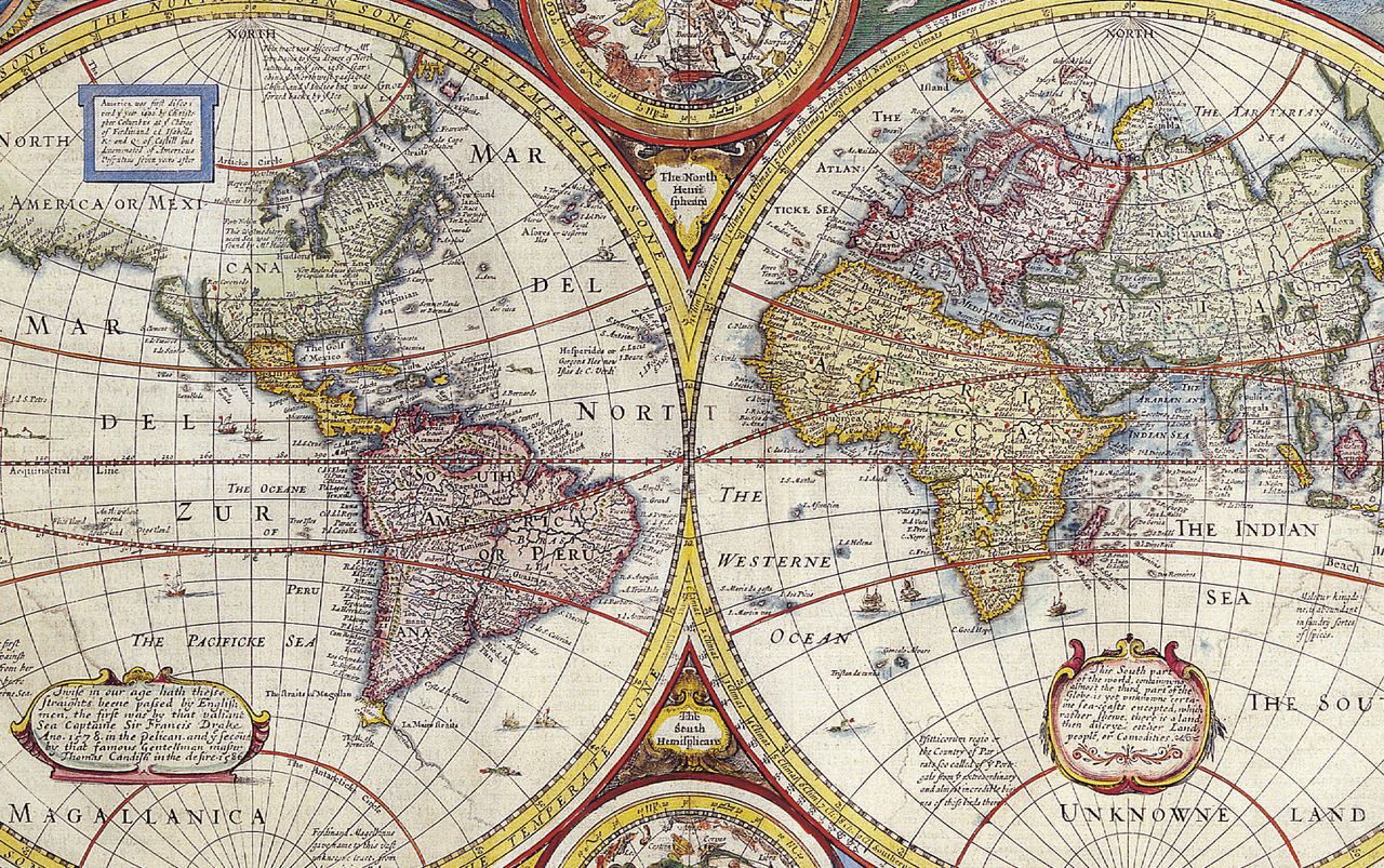 Illustration of world map