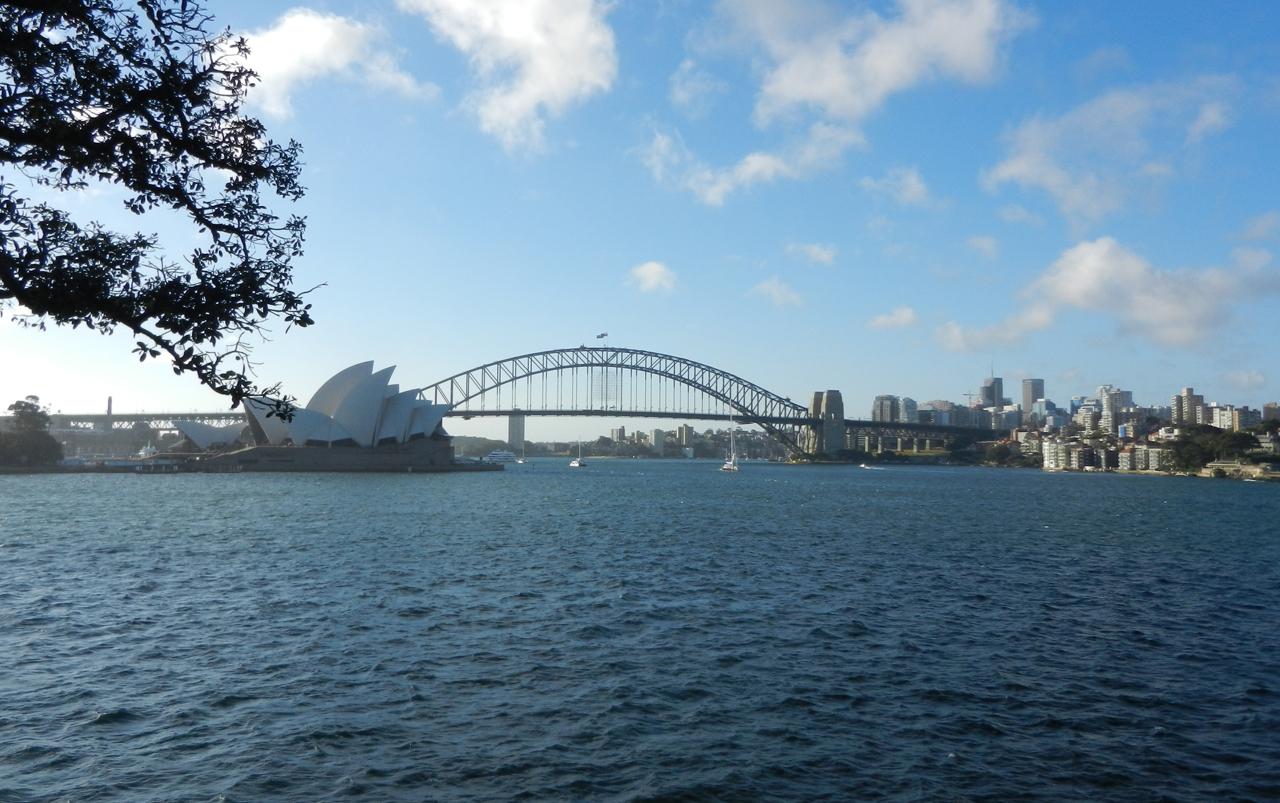 Sydney Opera House and Sydney Harbor Bridge.