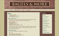 Bagels & More Website